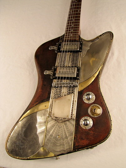 Sandpiper electric guitar body front Picture