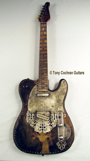 Tony Cochran Derringer guitar #65 full front Picture