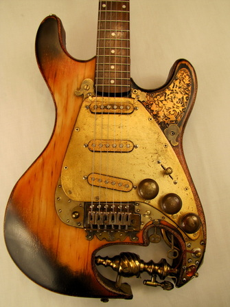 Aladdincaster guitar front Picture