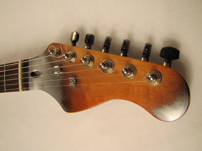 Alumicaster electric guitar by Tony Cochran Guitars head front Picture