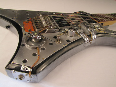 ACME electric guitar angled side Picture