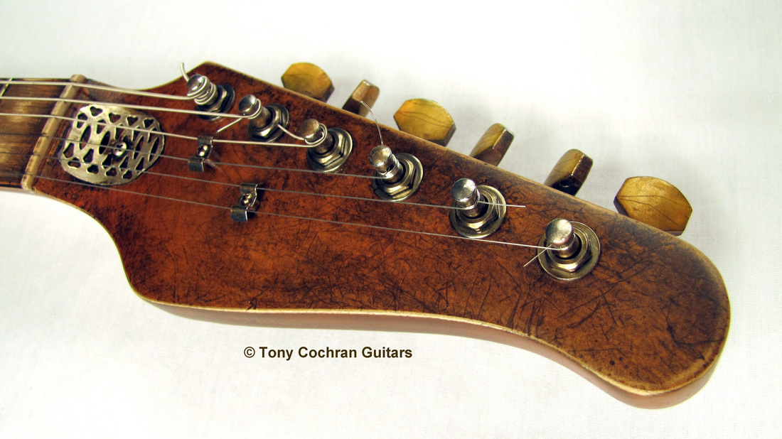Tony Cochran Derringer guitar #65 head front Picture
