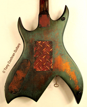 Tony Cochran ANGER63 guitar #63 body back Picture