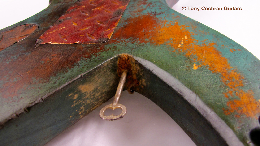 Tony Cochran ANGER63 guitar #63 bottom edge back Picture