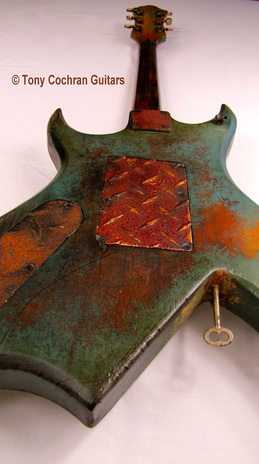 Tony Cochran ANGER63 guitar #63 detail mid back Picture