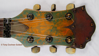 Tony Cochran ANGER63 guitar #63 head front Picture