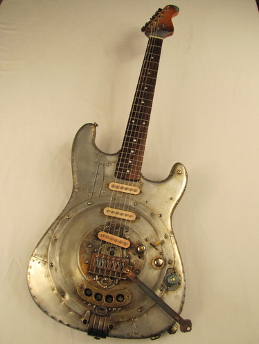 Alumicaster electric guitar by Tony Cochran Guitars full front Picture