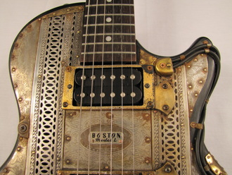Boston Model L guitar front middle detail center Picture