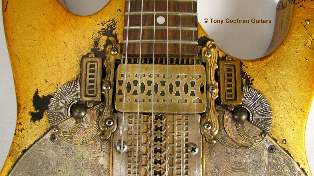 Tony Cochran Rising Sun guitar top front Picture