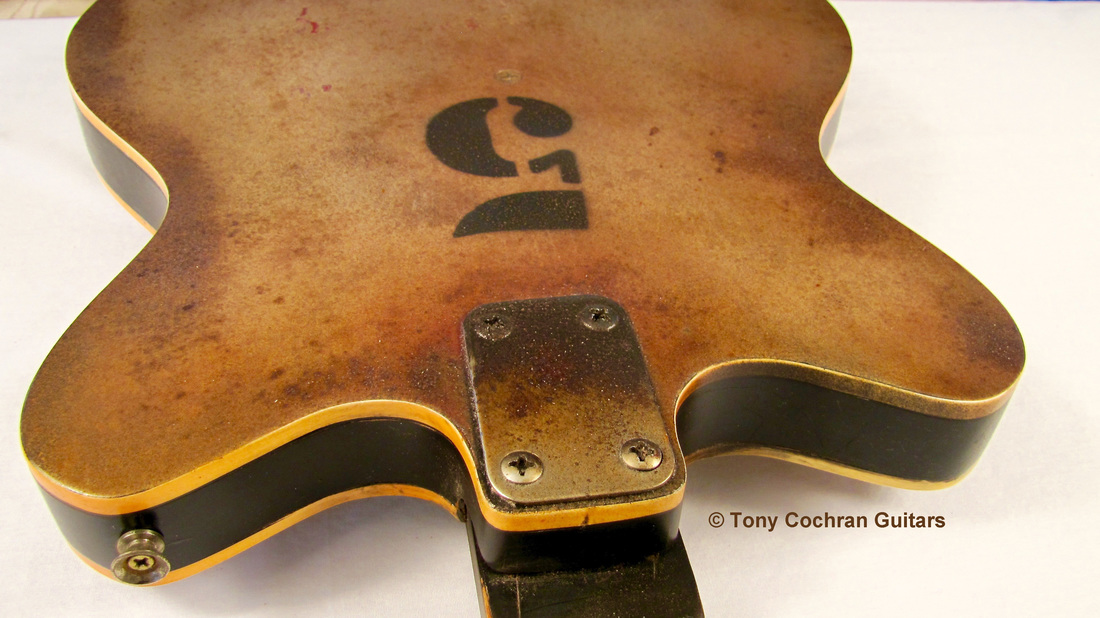 Tony Cochran JCW5 guitar top edge back Picture