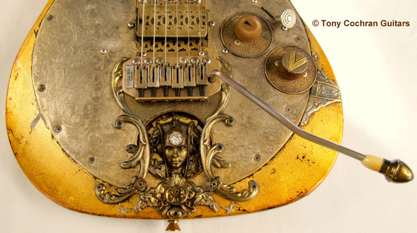 Tony Cochran Rising Sun guitar bottom front Picture