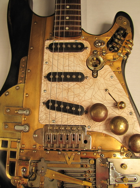 Accordiancaster Guitar fron detail Picture