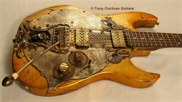 Tony Cochran Rising Sun guitar angle front Picture