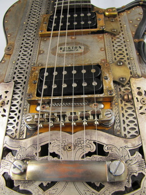 Boston Model L guitar front detail Picture