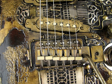 LightHouse electric guitar bridge frontPicture