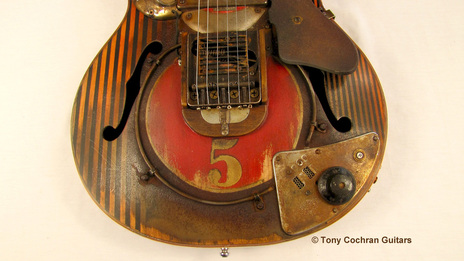 Tony Cochran JCW5 guitar bottom front Picture