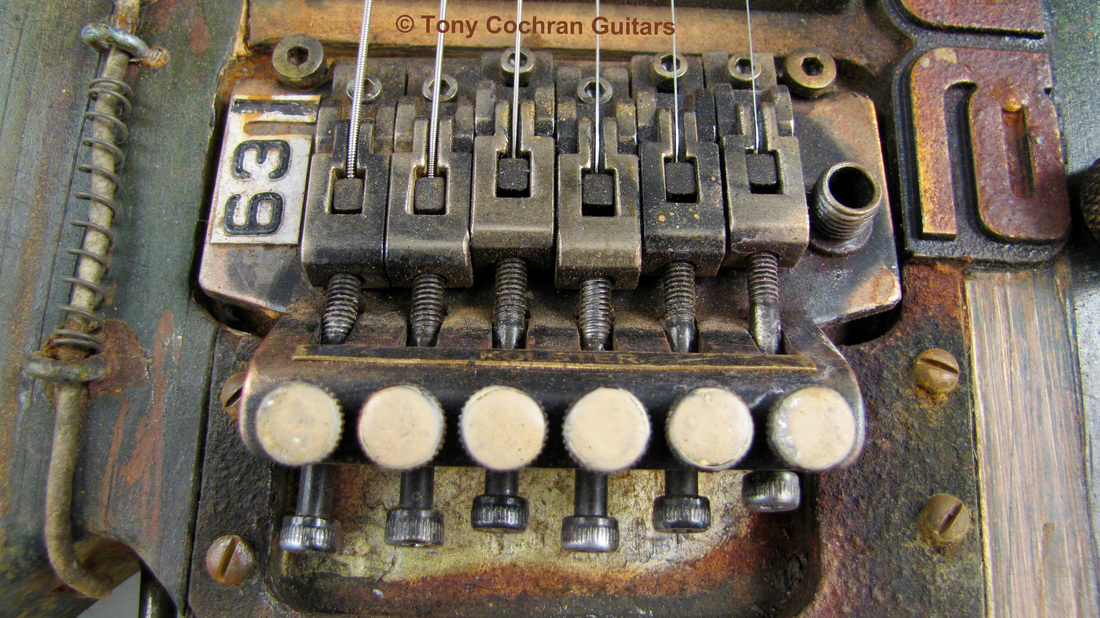 Tony Cochran ANGER63 guitar #63 bridge front Picture